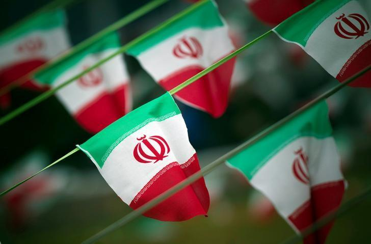 Iran's national flags are seen on a square in Tehran February 10, 2012, a day before the anniversary of the Islamic Revolution. Credit: Reuters/Morteza Nikoubazl/File Photo