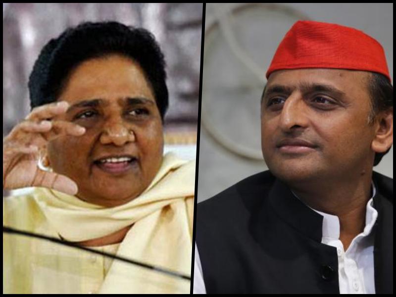 BSP leader Mayawati and SP leader Akhilesh Yadav. Credit: PTI