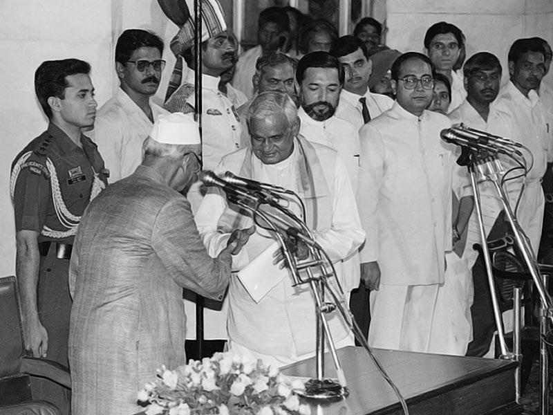 Atal Bihari Vajpayee in 1996. Credit: Twitter