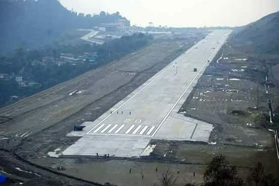 Pakyong Airport in Sikkim. Credit: Twitter