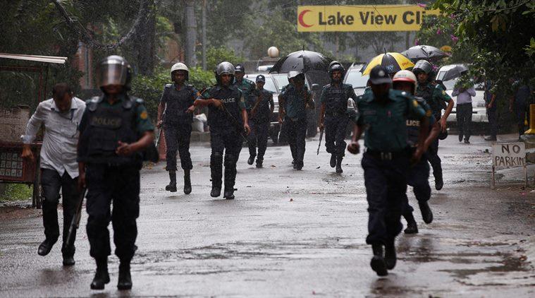 Representative image of Bangladesh police. Credit: Reuters/Adnan Abidi
