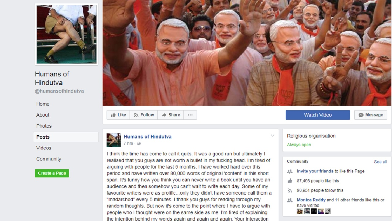 No, Facebook Didn't Take Down Humans of Hindutva