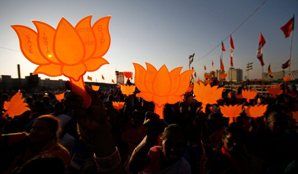 BJP supporters. Credit: Reuters