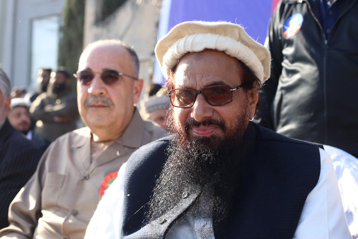India to 'Strongly' Take Up Presence of Palestinian Envoy With Hafiz Saeed at Jerusalem Rally