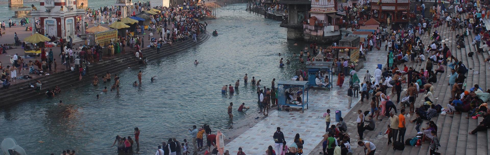 The Ganga flows through Haridwar, Uttarakhand. Credit: Jeevan/pixabay