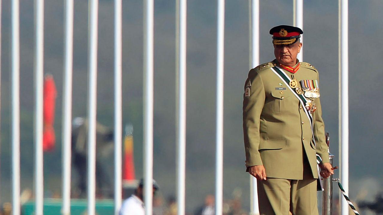 A file image of Pakistan Army Chief Qamar Javed Bajwa.
