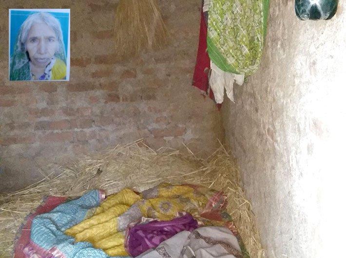 Etwariya Devi's house in Jharkhand. Etwariya Devi Credit: Right to Food Campaign