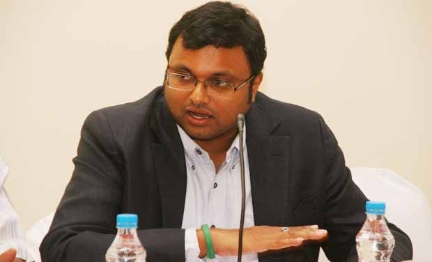 Karti Chidambaram, son of former finance minister P. Chidambaram. Credit: PTI