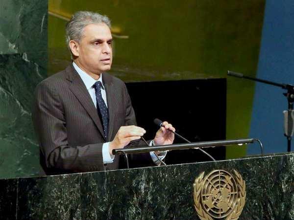 India's permanent representative to the UN Syed Akbaruddin. Credit: Reuters