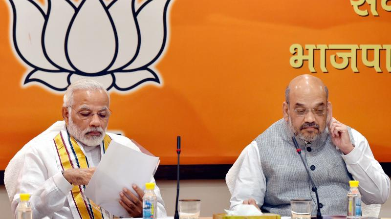 Narendra Modi and Amit Shah. Credit: PTI/Files