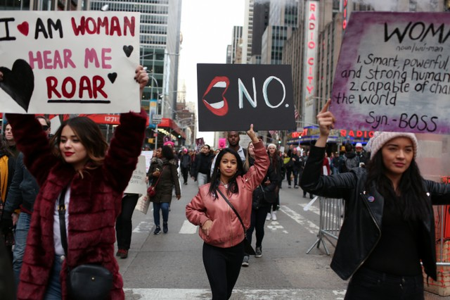 US: Women Stage Nationwide Protests As Trump Begins Second Year