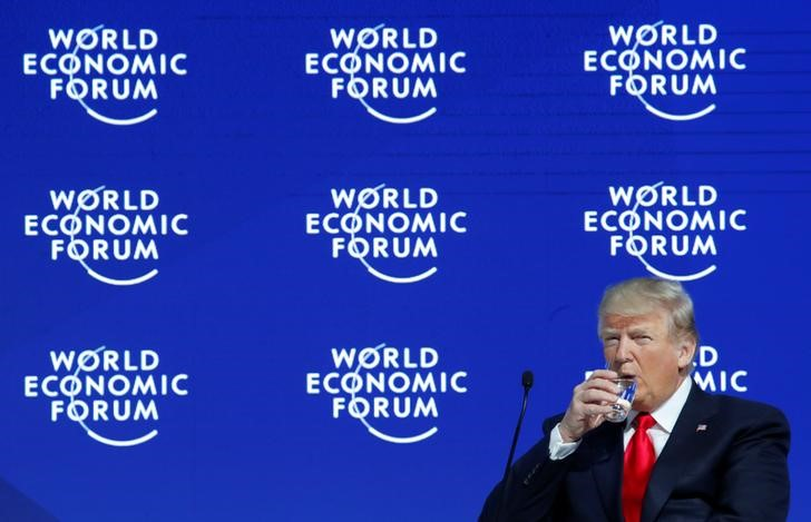 Trump Warns Davos on Unfair Trade, Says US 'Open for Business'