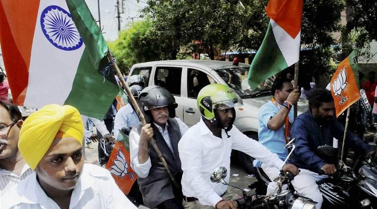 A previous Tiranga Yatra in Bhopal. Credit: PTI