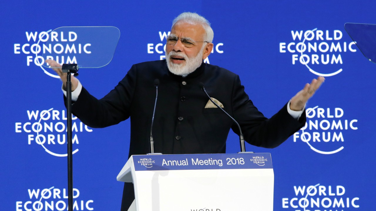 Modi's Three-Point Pitch at Davos Rests Strongly Only On One Leg