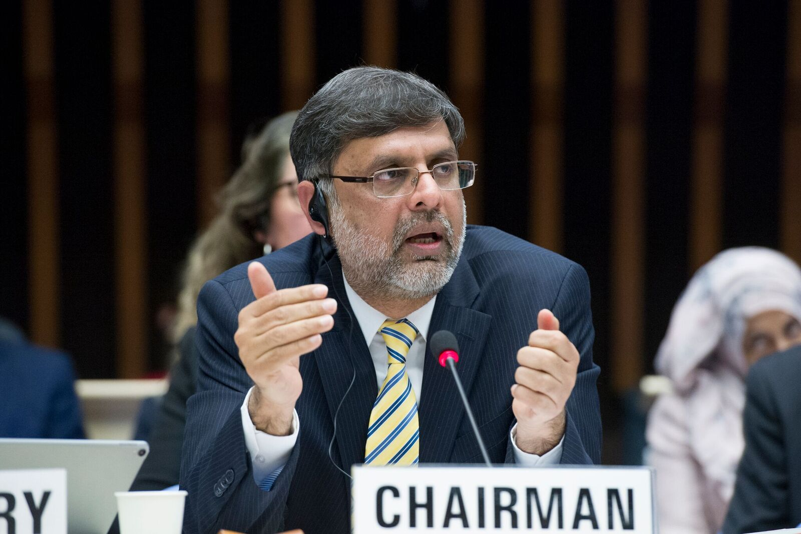 Assad Hafeez, chairman of the WHO EB. Credit: WHO