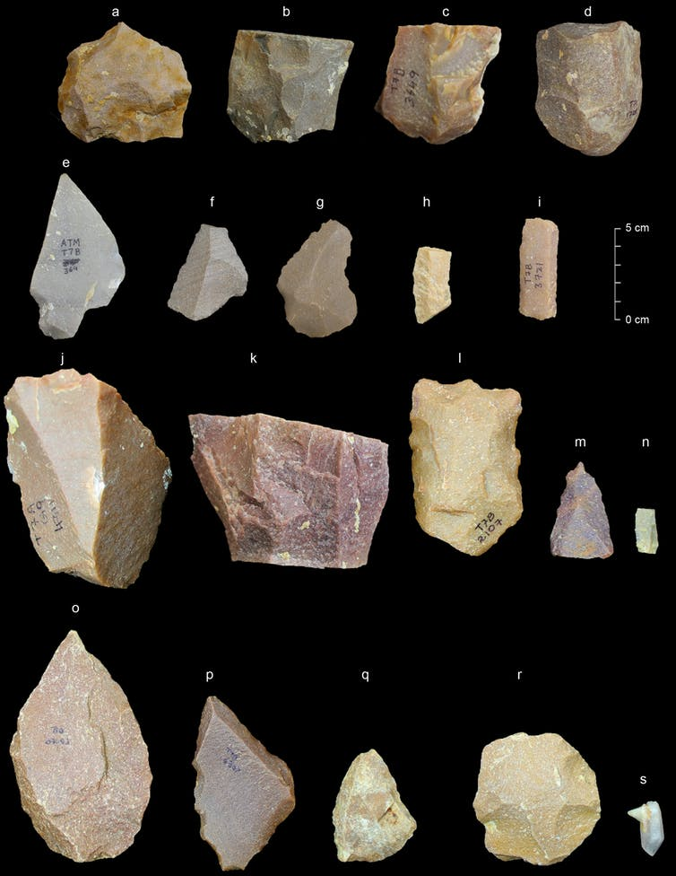 Some of the artefacts found in Attirampakkam, Tamil Nadu. Source: SCHE
