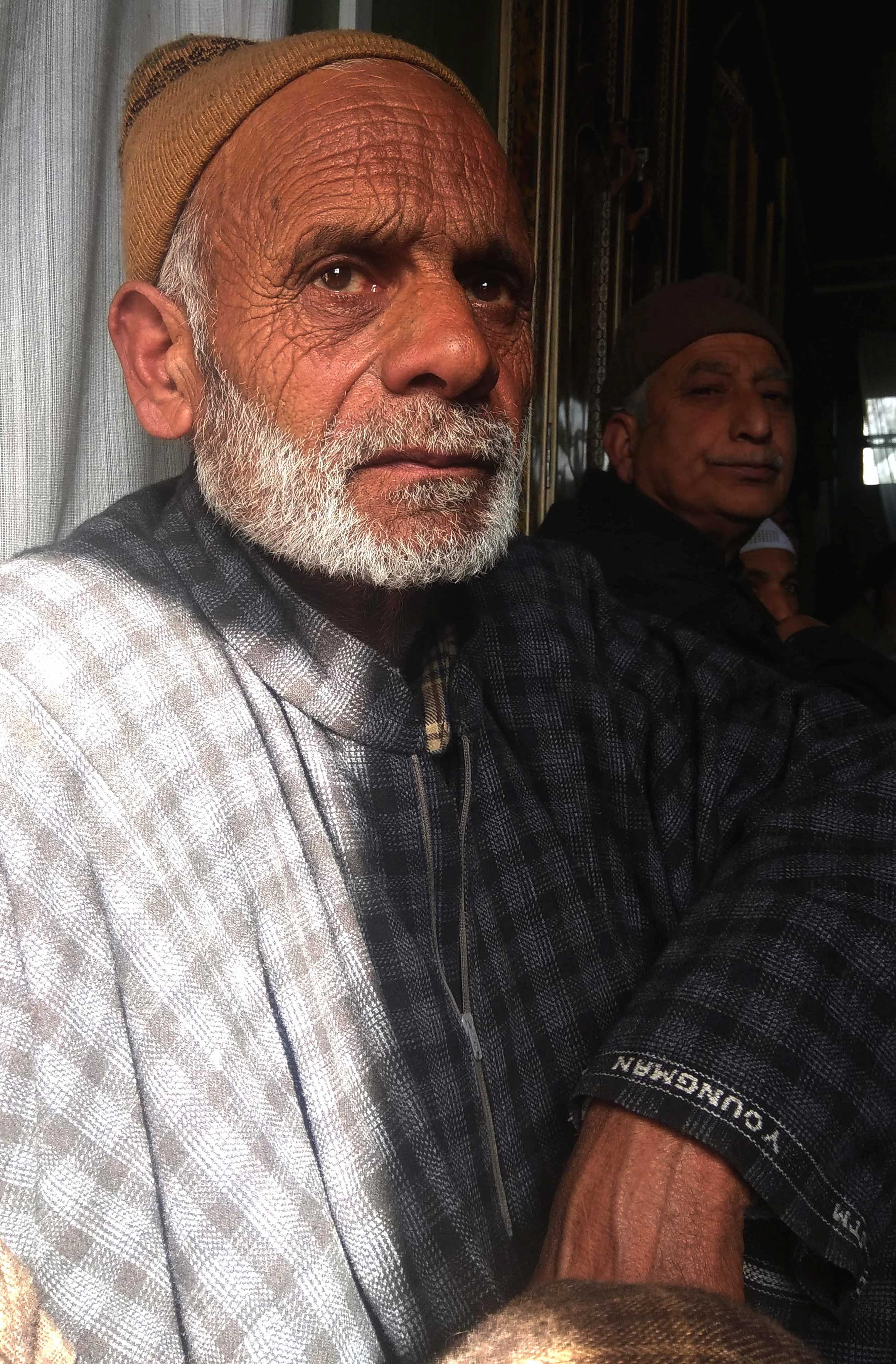 Javaid Ahmad's father, Abdul Rashid Bhat. Credit: Mudasir Ahmad