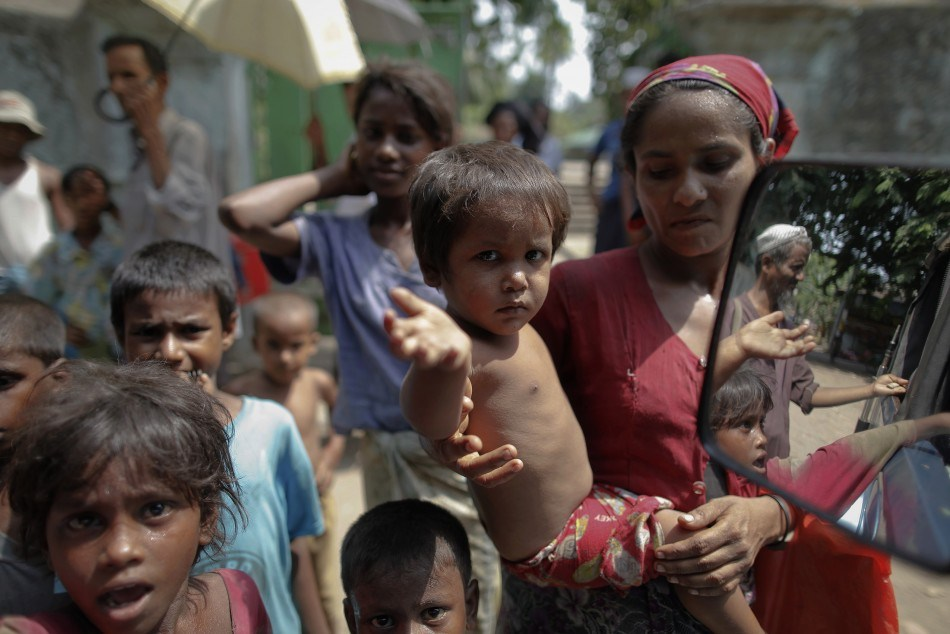 The Rohingya live in squalid conditions in the country. Credit: Reuters