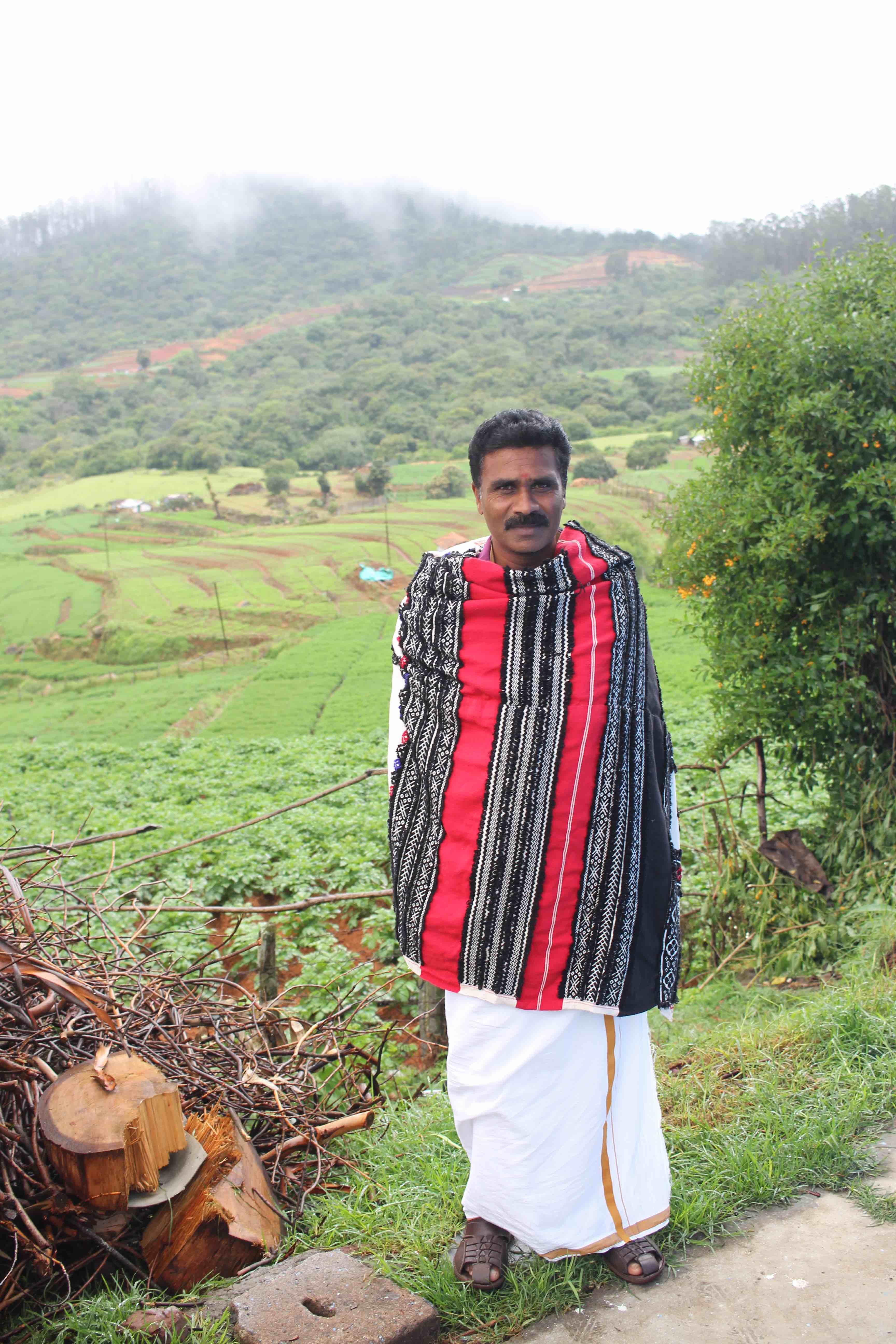 A Toda man in his traditional attire near Ooty. Credit: Sibi Arasu