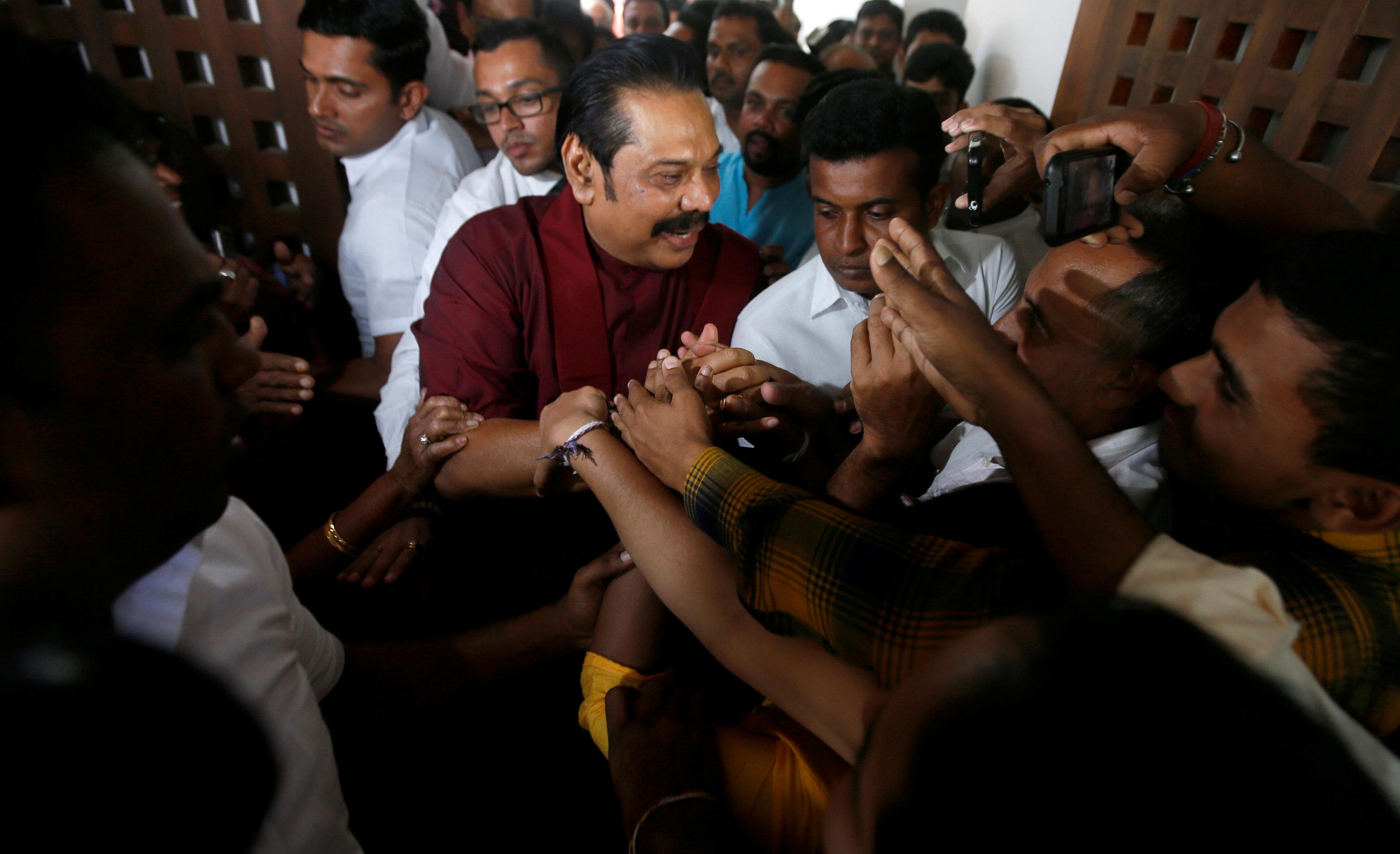 Sri Lanka's Former President Rajapaksa Seeks Fresh Elections After Council Vote Boost
