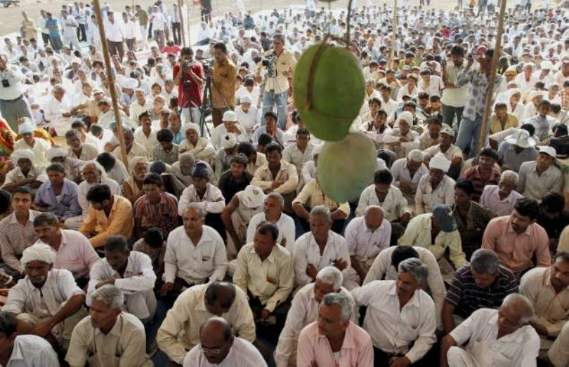 File photo of a farmers' protest against the Westinghouse plant in Gujarat. Credit: PTI