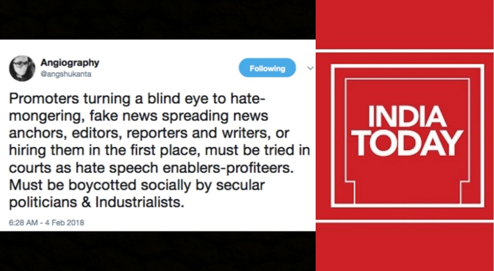 India Today Editor Fired for Tweeting Against Fake News Hints at Legal Action