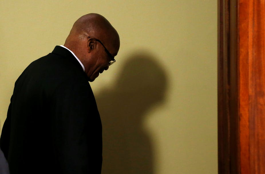 Zuma Finally Falls, but Not Before Threatening to Take the House Down With Him