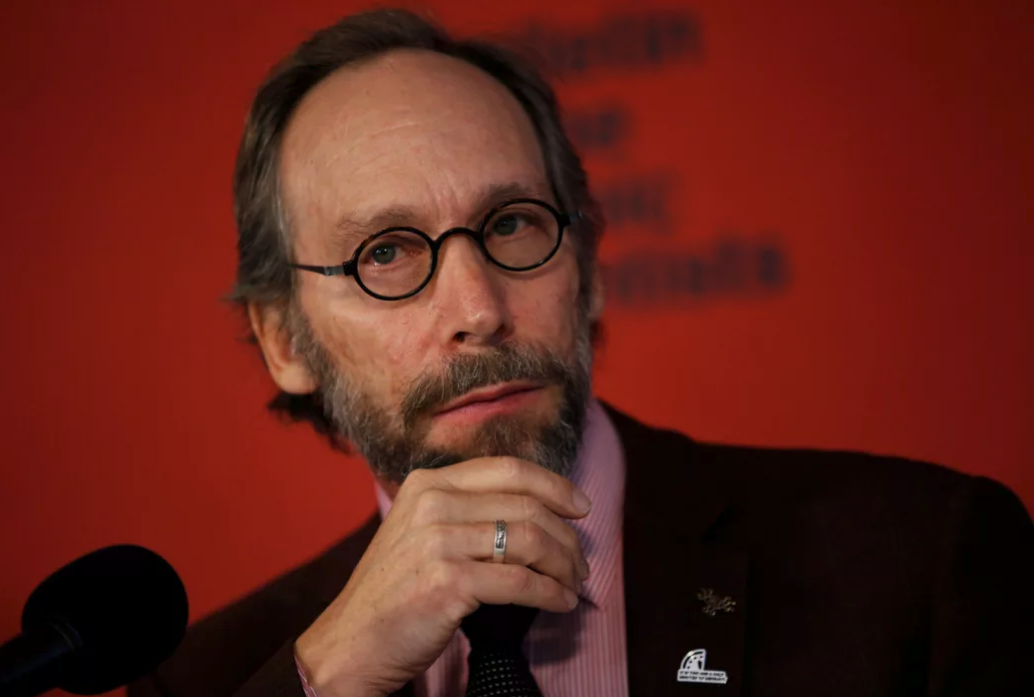 Krauss at a press conference for the Bulletin of the Atomic Scientists on January 25, 2018. Credit: Reuters/Leah Miller