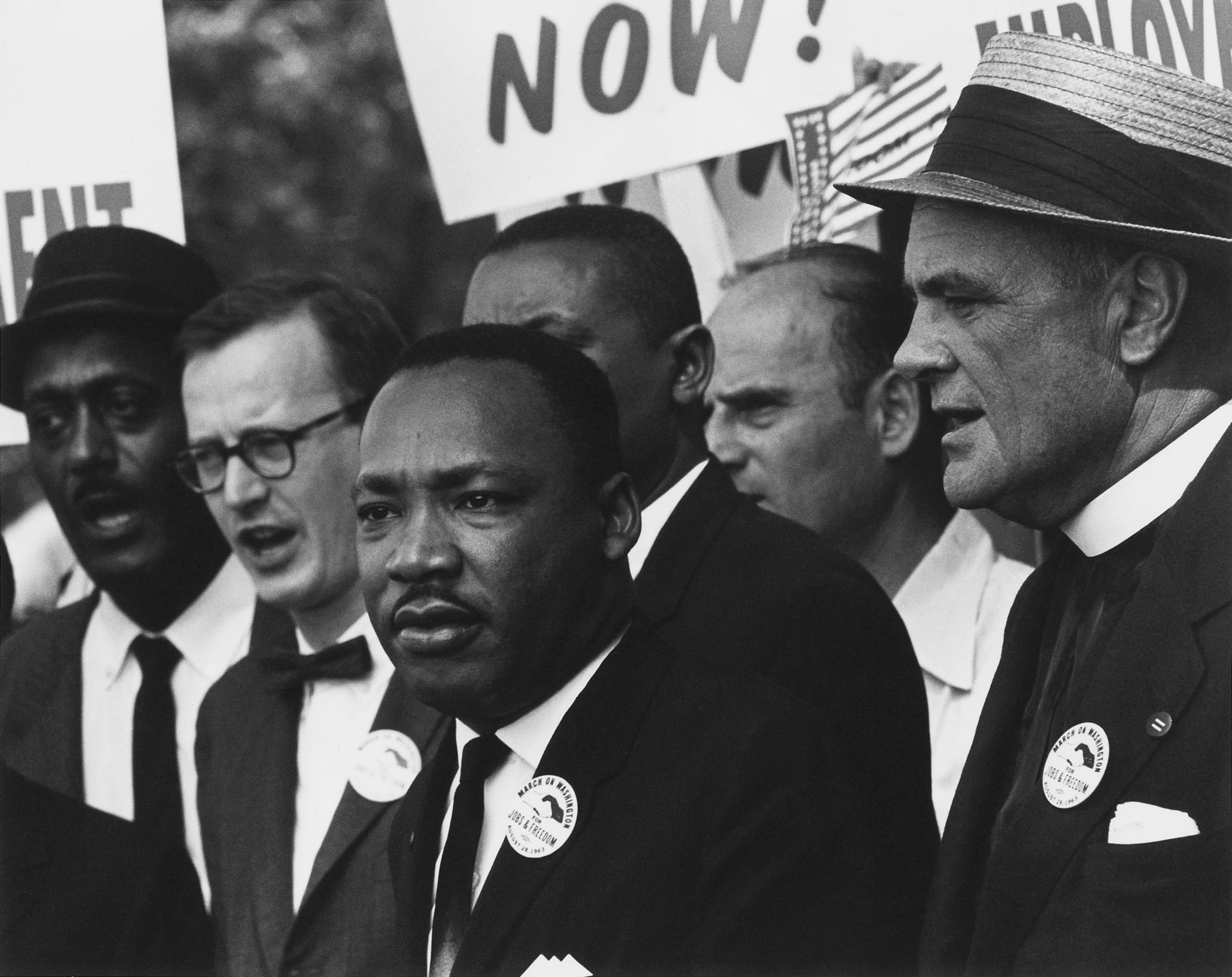 Martin Luther King Jr at a civil rights march. Credit: Wikimedia Commons