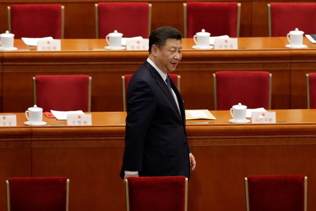 Chinese President Xi Jinping arrives for the third plenary session of the National People's Congress (NPC), where delegates will vote on a constitutional amendment lifting presidential term limits, at the Great Hall of the People in Beijing, China March 11, 2018. Credit: Reuters/Jason Lee