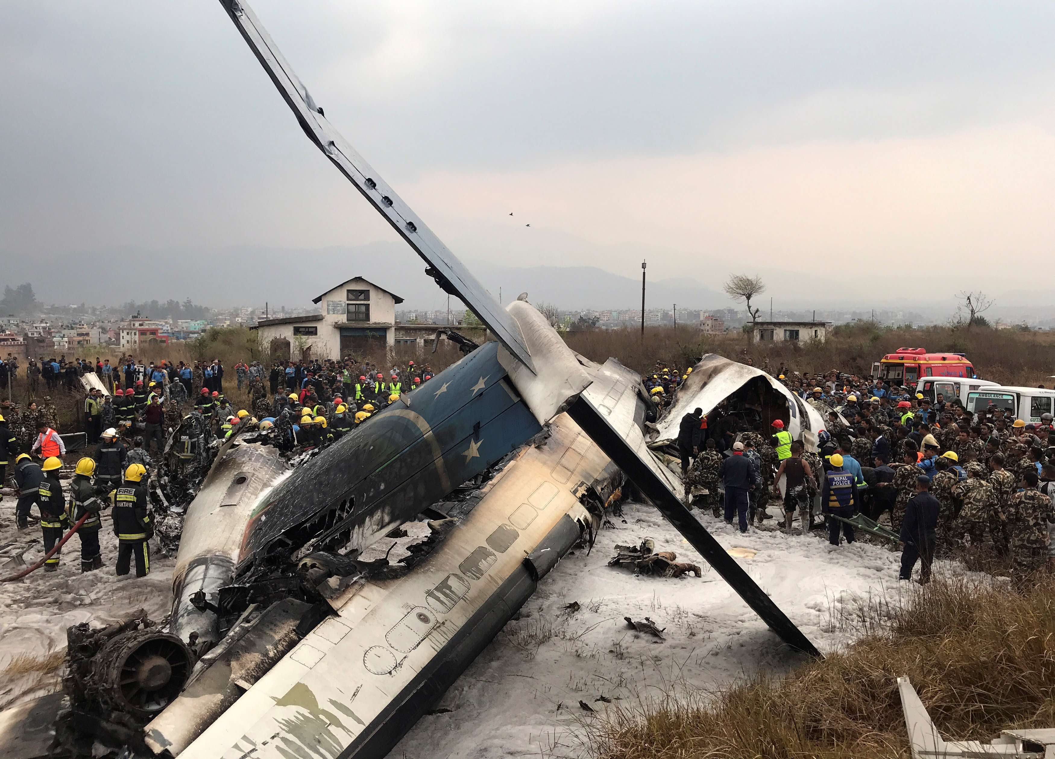 Bangladesh Plane Carrying 71 People Crashes in Nepal; At Least 50 Dead