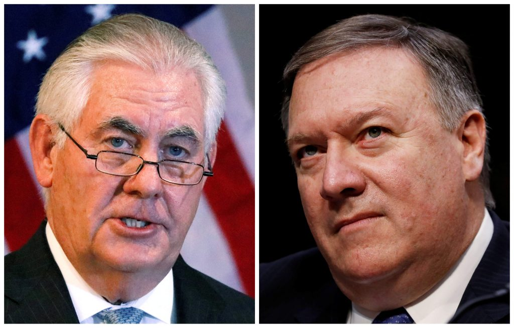 Trump Fires Secretary of State Rex Tillerson via Twitter, Taps CIA Director Mike Pompeo