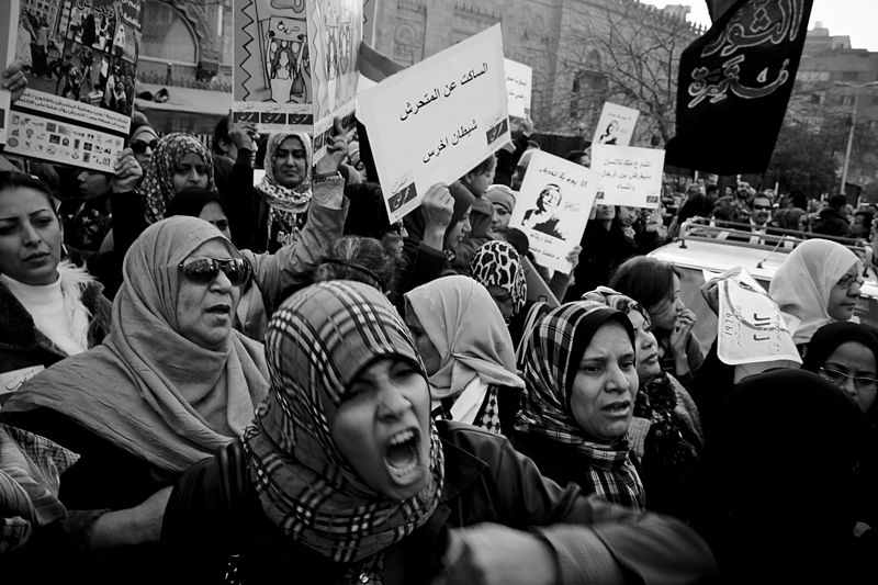Muslim women protesting in Cairo