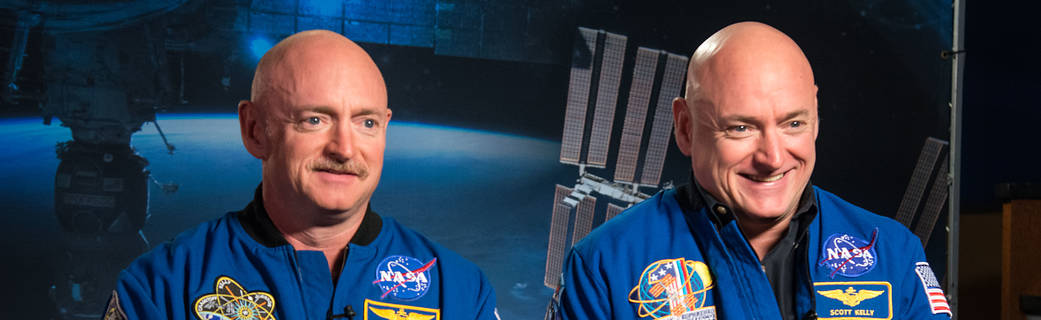 The Kelly brothers. Scott (right) and Mark Kelly were the subjects of a twins study aimed at discerning effects of space travel on the human body. Credit: Robert Markowitz/ NASA