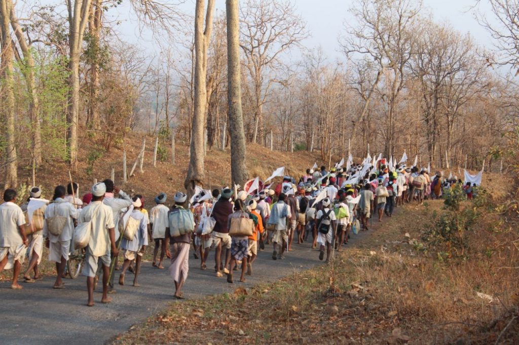 Baiga Adivasis March Against Displacement Due to Tiger Corridor, Demand Forest Rights