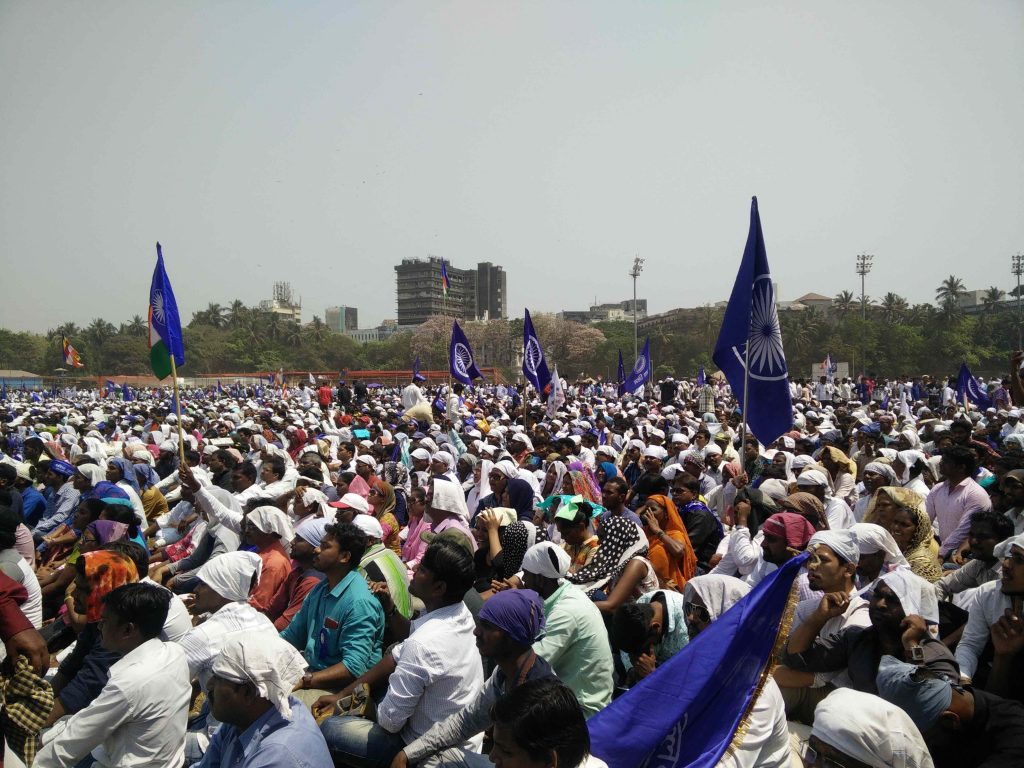 Protestors turned up in huge number at Azad Maidan in Mumbai. Credit: Sukanya Shantha