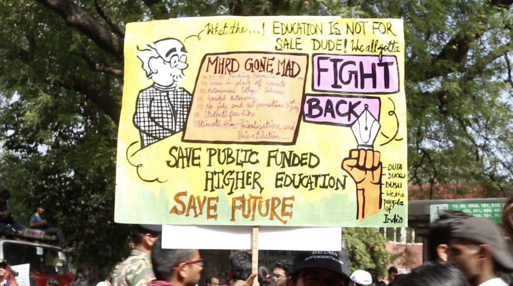 Thousands Protest in Delhi Against the Alleged Privatisation of Education