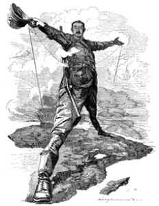 Imperialist Cecil Rhodes planned a railway and telegraph line to connect Africa. Credit: Wikimedia Commons