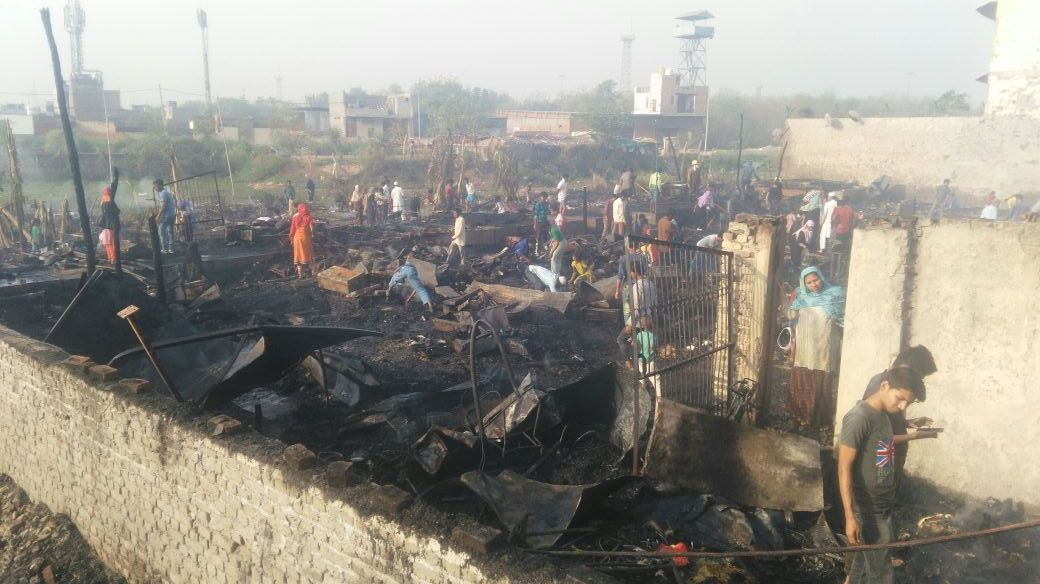Rohingya Camp Burnt to Ashes in Delhi