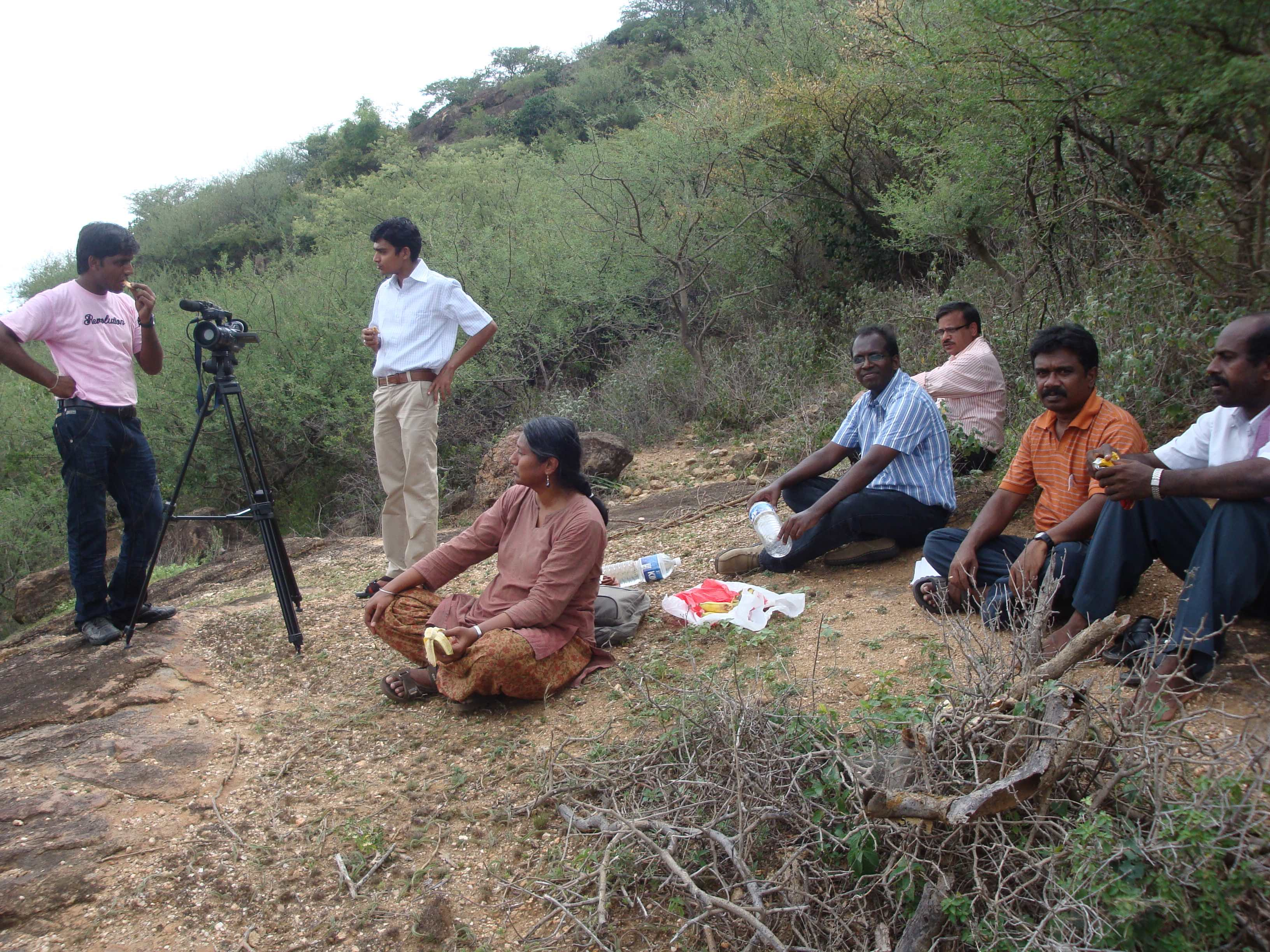 Members of the INO collaboration during a site inspection in Theni, Tamil Nadu. Credit: INO/TIFR