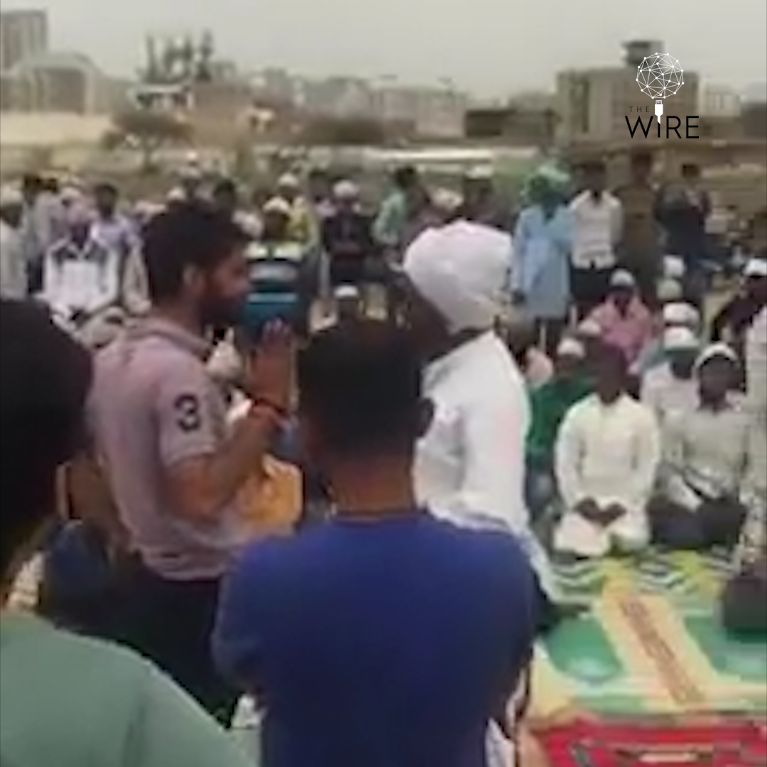 Watch: Six Men Arrested for Disrupting Namaz in Gurgaon