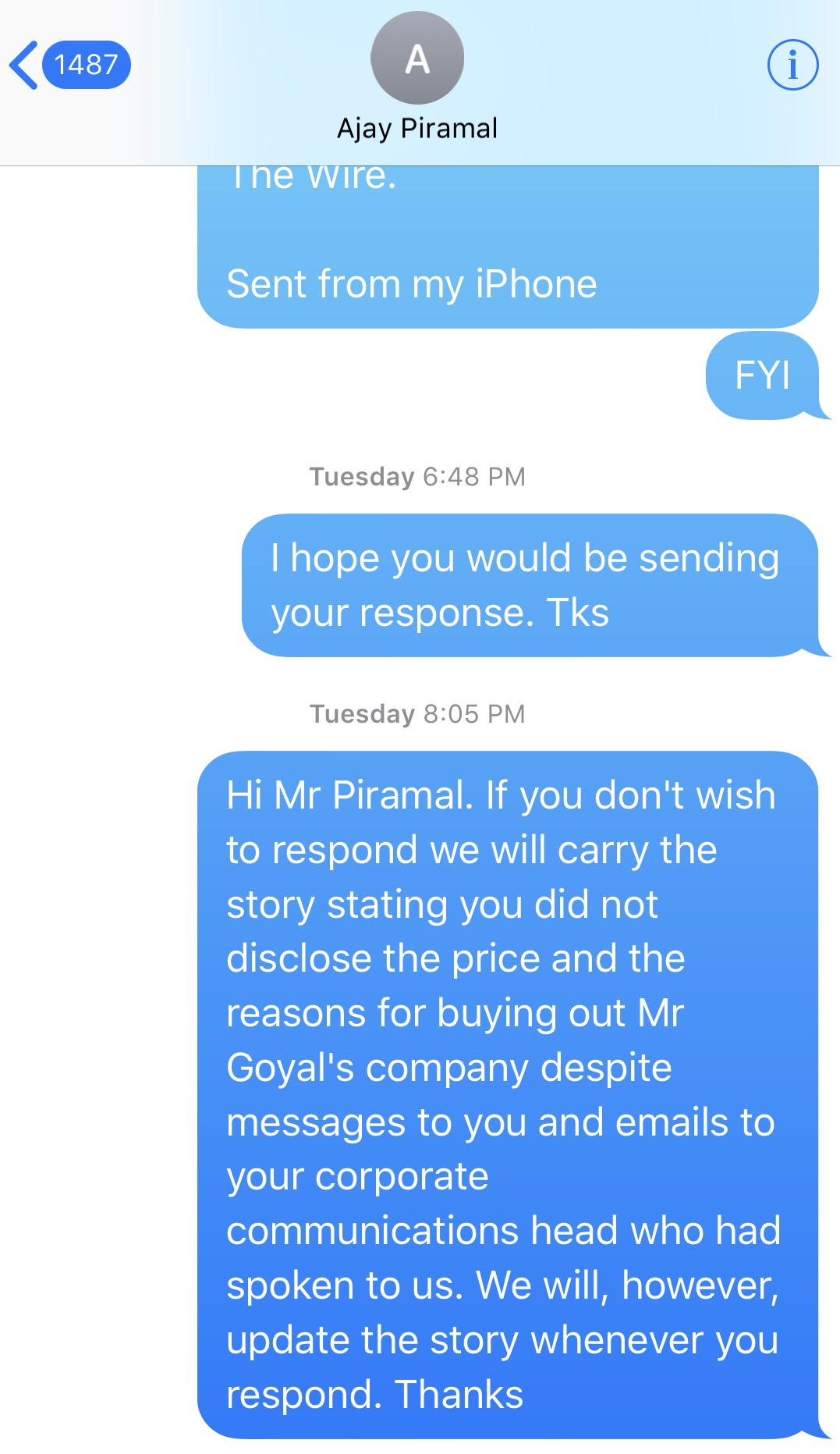 Piramal Group Responds to The Wire\'s Story on Piyush Goyal