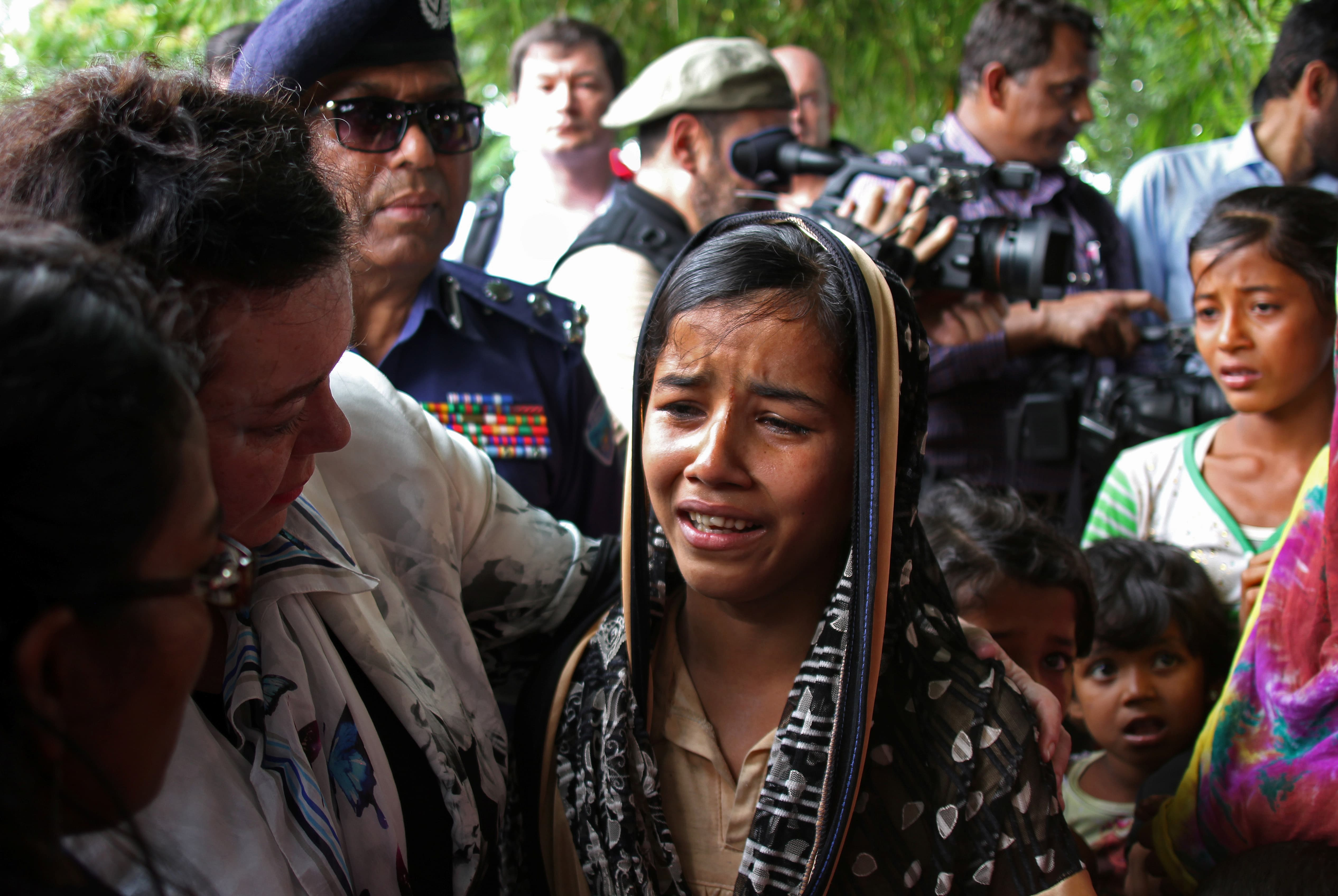 Rohingya Refugees Tearfully Plead for UN Security Council Help