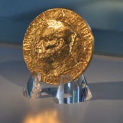 The Nobel Prize medal. Credit: robynmack96/Flickr, CC BY 2.0