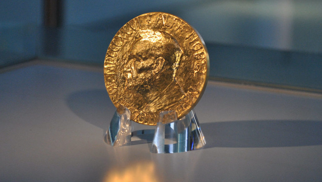 The Nobel Prize medal. Credit: robynmack96/Flickr, CC BY 2.0