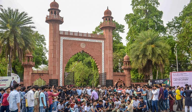 Fact Check: BJP Shared Doctored Video to Paint AMU Students as Anti-Hindu