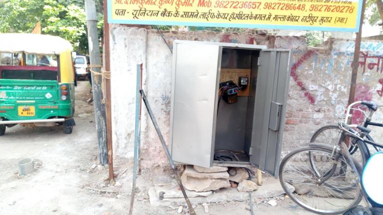 Fr subhashini water pump outside Galla Kothar controlledby Tomar family