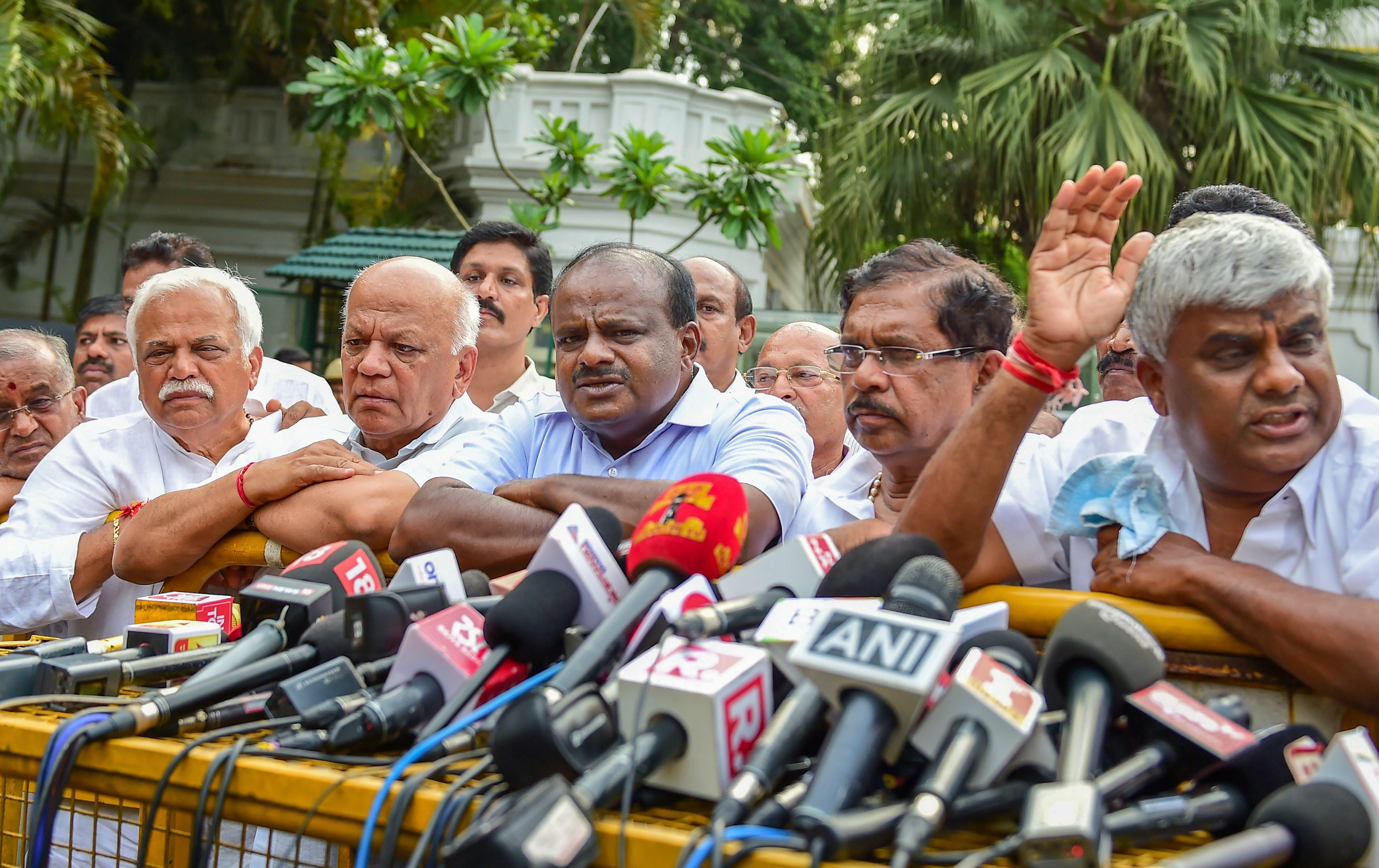 Kumaraswamy alleges BJP hijacked two of his MLAs