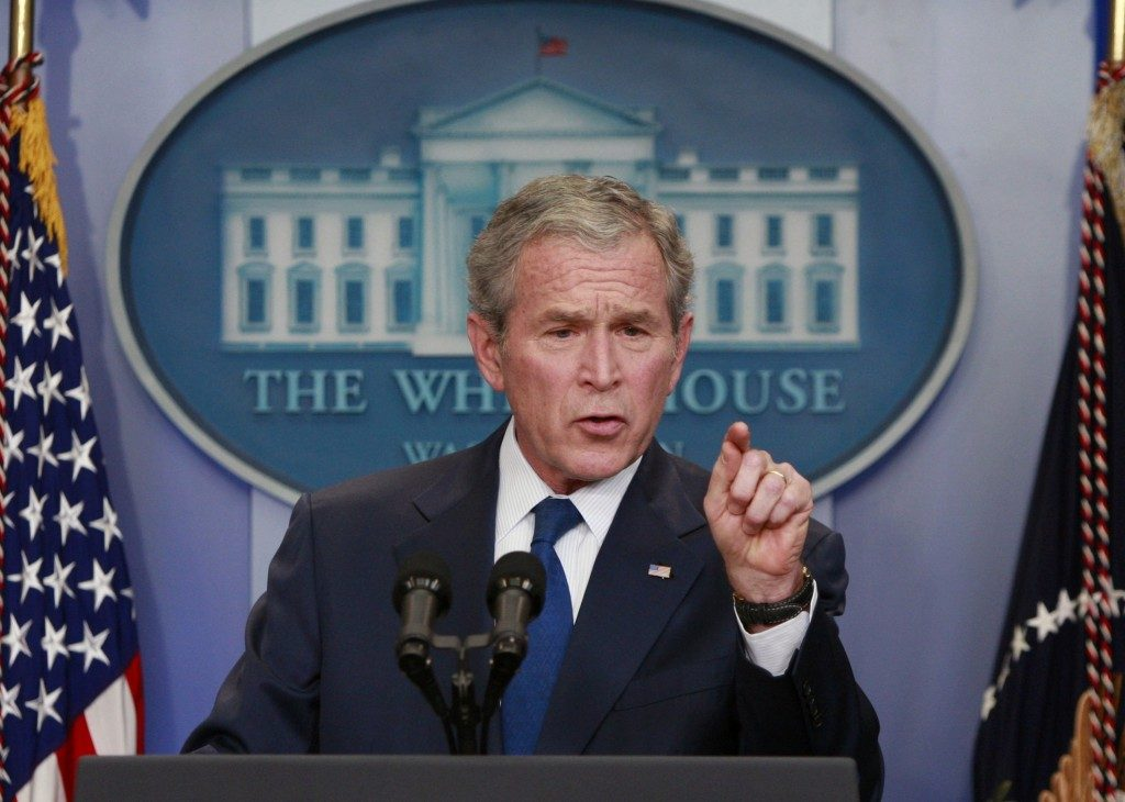 George W. Bush. Credit: Reuters/Jason Reed
