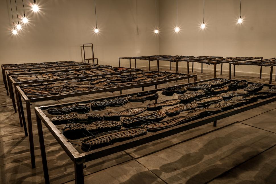 '12 Bed ward' (2005), an installation by Vivan Sundaram. Credit: Ajay Jaiman
